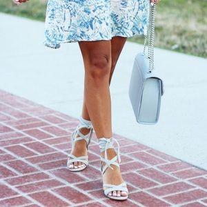 Ivanka trump grey lace up sandals